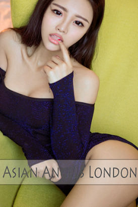 Young Asian London escort in navy body